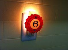 Woodrail Pinball no. 6 pop bumper Night Light by wirenot on Etsy, $25.00
