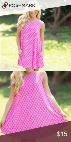 Pink Summer Dress NWOT pink summer dress from the Pink Lily Boutique. Make me an offer! Pink Lily Boutique Dresses