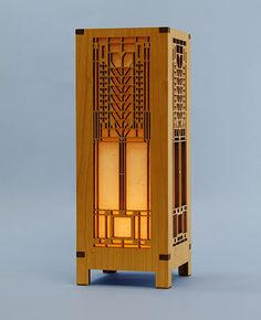 Frank Lloyd Wright Lamp - Decorative Laser Cut Wood Lamps