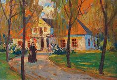 Bronisława RYCHTER-JANOWSKA (1868-1953)  Jesień, ok. 1935 olej, tektura; 24 x 34 cm; sygn. p. d.: B. RYCHTER - JANOWSKA.