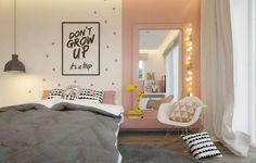 Vous avez comme projet de décorer une chambre d'ado fille? Voici des idées pour vous inspirer! Voir aussi notre tableau d'inspiration Pinterest.