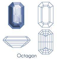 octagon Cut Gem