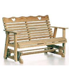 Amish Outdoor Furniture Small Heart Porch Furniture Glider