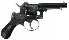 Francotte Lefaucheux-type revolver Manufactured c.1854~60′s in Liège, Belgium by A. Francotte - serial number 108719.