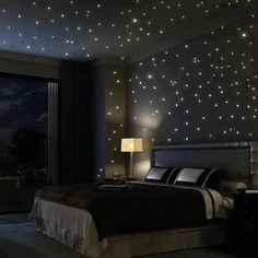 Bedroom lighting can range from basic to bold, and dimmed to dramatic. No matter what, lighting is a key player in your bedroom design. Bedroom lighting inspiration for your sleeping accommodation. Look at our best bedroom interior ideas. White Lights Bedroom, Christmas Lights In Bedroom, Romantic Bedroom Lighting, Romantic Room, Black Bedroom Decor, Bedroom Neutral, White Bedroom, Home Decor Items, Cheap Home Decor