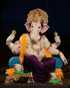 Shri Ganesh Images, Ganesha Pictures, Lord Krishna Images, Ganesh Idol, Ganesha Art, Krishna Art, Shri Hanuman, Shree Ganesh, Ganesh Lord