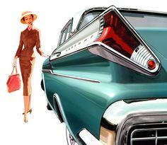 Plan59 :: Classic Car Art :: Vintage Ads :: 1957 Mercury