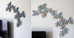 Flores com Rolos de Papel Higiénico
