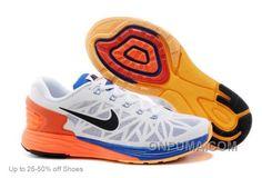 http://www.onpuma.com/nike-lunarglide-6-running-shoes-men-white-orange-cobalt-authentic.html NIKE LUNARGLIDE 6 RUNNING SHOES MEN WHITE ORANGE COBALT AUTHENTIC : $69.00