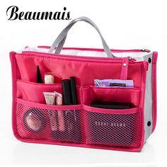 Beaumais 2017 Multifungsi Makeup Organizer Tas Wanita Kosmetik Kasus Tas perlengkapan mandi kit Perempuan Perjalanan Tas Wanita Bolsas HB004