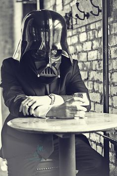 Darth Vader at a bar