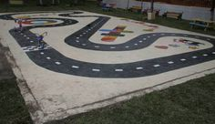 How To Paint Asphalt Games | KaBOOM! instructions for 'easy' to 'very complex' playground projects