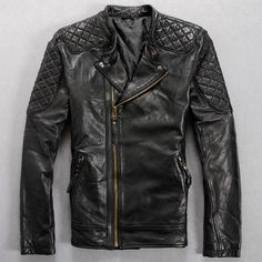 Find More Information about Free Shipping 2015 New Men Leather Jacket Turn down Collar Slim Short 100% Genuine Sheep Skin Leather Men Punk Motorcycle Coat,High Quality leather swing coat,China leather id card holder Suppliers, Cheap leather duffle from ShowGirl Fashion on Aliexpress.com