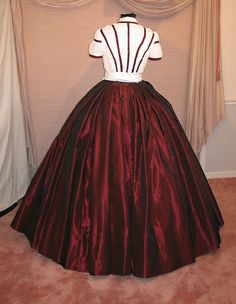 """Reproduction Gown By Gwtw4eveR for Dee""   A Red & White Christmas Gown"