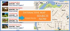 Homes For Sale Bend Oregon Bend, Central Oregon, Map Activities, House Map, Interactive Map, Real Estate Search, Real Estate Marketing, Homes, Learning