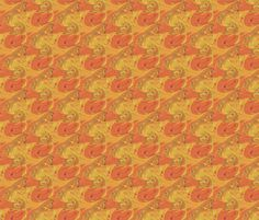 Orange Arial_View fabric by elise_camp on Spoonflower - custom fabric