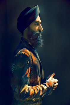 stunning portrait of 2011 Scholastic Awards Juror Waris Ahluwalia by 2001 Scholastic Awards Alum Erik Madigan Heck