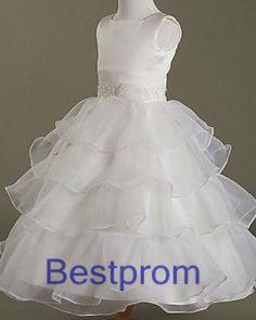 Custom made short Flower Girl Dress Junior Bridesmaid Dress  FG-240 on Etsy, $55.00