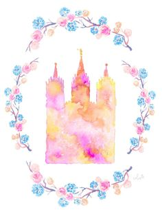 Items similar to Salt Lake City, Utah LDS Temple floral watercolor on Etsy Lds Conference, Church Quotes, Salt Lake City Utah, Lds Church, Lds Temples, Lds Quotes, Jesus Cristo, Floral Watercolor, Watercolor Ideas