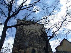 Prague- Kyje- St.Bartolomeus- Roman- gothic tower of the church
