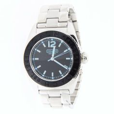Coach women's boyfriend style watch Andee collection black dial with silver stainless steel bracelet 14501378. Coach. $184.99. Boyfriend Style Watch. Water resistance. Stainless steel bracelet