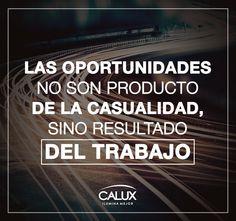 Definitivamente la pasión por nuestro trabajo es indispensable para lograr el éxito. #FrasesCalux #Éxito #Inspiración #FrasesMotivación