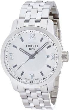 6fd9fd60732 Tissot PRC 200 Quartz Silver Dial Stainless Steel Sport Mens Watch  T0554101103700