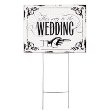 Vintage Wedding Sign  http://www.savedateevents.carlsoncraft.com