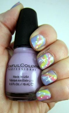 Spring Renewal Nail Art Challenge Day 4: Free Style | Lustrous Lacquer Pastel Galaxy, Easter Nail Art, Galaxy Nails, Christmas Nail Art, Art Challenge, You Nailed It, Nail Polish, Challenges, Spring
