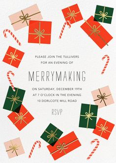 Freestyle Wrapping - online Christmas party invitation at Paperless Post Paperless Post, Christmas Party Invitations, Fathers Day Cards, Digital Invitations, Tool Design, Holiday Parties, Your Cards, Rsvp, Backdrops