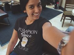 #pumpkinspice #psl #pumpkinspicelatte 2019 Pumpkin spice latte is back! So grab a coffee and one of this cool fall outfit top and get ready for all that pumpkin spice latte humor! This clothing item with a pumpkin spice latte design makes a great choice for autumn wardrobe essentials 2019 This clothing piece is a great gift for a pumpkin spice latte girl! Awesome for memes! Enjoy your favorite fall drink with a piece of bundt cake, biscotti, brownies and don't worry about the calories Fall Wardrobe Essentials, Fall Tops, Fall Drinks, Pumpkin Spice Latte, Branded T Shirts, Clothing Items, Don't Worry, Biscotti, Brownies