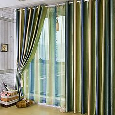 (One Pair) Beautiful Gradients Color Shade Room Darkening Curtain  – USD $ 59.99
