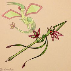 Pokeapon No. 330 - Flygon. #artwork #flygon #dragonscale #spear #pokemon #weapon #pokeapon #nintendo