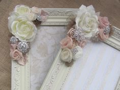 Romantic Shabby Chic Picture Frame by GrandNichols on Etsy https://www.etsy.com/listing/172996004/romantic-shabby-chic-picture-frame
