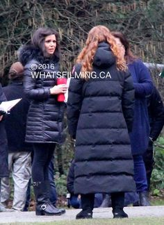 Awesome Lana and Rebecca (Bex) (Regina and Zelena) #Once #BTS Once S5 E21…