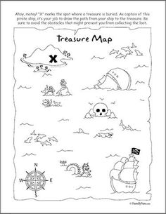 Pirate Treasure Map Coloring Page Coloring Pages Amp Pictures Car Pirate Party Decorations, Pirate Decor, Pirate Crafts, Pirate Theme, Treasure Maps For Kids, Pirate Treasure Maps, Pirate Maps, Pirate Coloring Pages, Truck Coloring Pages