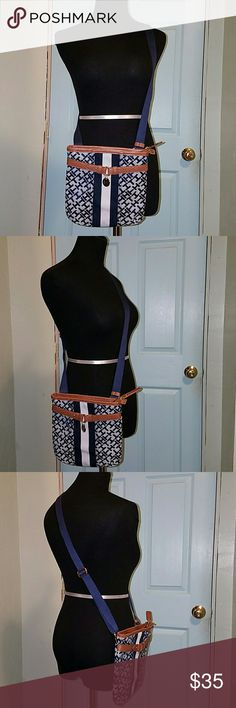 NEW 💎TH💎 Leather CrossBody Bag {Brand New, Tagless, Never Used} Perfect Condition Tommy Hilfiger Adjustable CrossBody Leather Bag.  Inside includes two Cosmetic pouches and one large zipper pocket. Tommy Hilfiger Bags Crossbody Bags