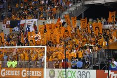 Texian Army holds up player banners at the start of the game