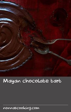 Mayan chocolate tart | Delicious spiced chocolate flavour that finishes with a mild chilli hit. Why did we call it Mayan chocolate tart? Well! The first record of chocolate being consumed was when the Ancient Mayans ground cocoa beans and blended them with spices, chilli and water to make a bitter drink. We have taken the idea of blending chocolate with spices and chilli to create this decadent dessert.
