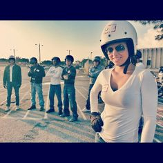 Learning to ride a motorcycle class