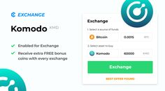 Komodo $KMD - an open, composable smart chain platform - is now enabled for exchange on MyCointainer!  Did you know that users enjoy free bonuses when they make an exchange on the website? They get the best rates of 10+ exchanges too. Visit MyCointainer website to learn more! 😊 Komodo, Enabling, Did You Know, Knowing You, Coins, Platform, Good Things, Ads, Website