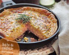 receta quiche calabacin No Salt Recipes, Cooking Recipes, Quiches, Bacon Quiche, Quiche Recipes, Sin Gluten, Bon Appetit, Tapas, Food To Make
