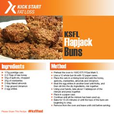 Check out our delicious KSFL Flapjack Buns Clean Eating Recipes, Healthy Eating, Healthy Recipes, Healthy Foods, Kick Start Diet, High Protein Low Carb, Raw Honey, Fat, Ethnic Recipes