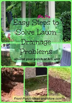 Easy Steps to Solve Lawn Drainage Problems (Landscape Step Porches)