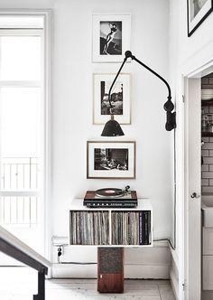 LP skivor i hylla