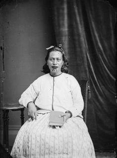 Maori woman from the Hawkes Bay district, taken, probably in the 1870s, by Samuel Carnell of Napier. #Maori