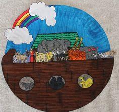 Plate ark scene- Noah's Ark.