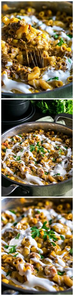 A simple one-pan meal that's like a gourmet version of Hamburger Helper. Perfect for busy weeknights. And you can make it as spicy (or not) as you want!