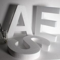 300 mm Polystyrene letters & Numbers- Standard - for craft use.