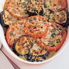 Grilled Eggplant and Tomato Gratin (via Parents.com)